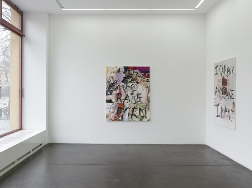 Actions Speak Louder Than Fonts, Installation view at Galerie Nagel Draxer, 2017