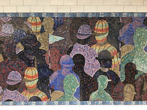 Parade, permanent installation at 145th Station, 2018. Commissioned by the New York MTA.
