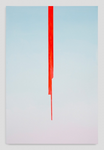 "Wanda Koop, ""In Absentia (Sky Blue - Sightline Red),"" 2017"
