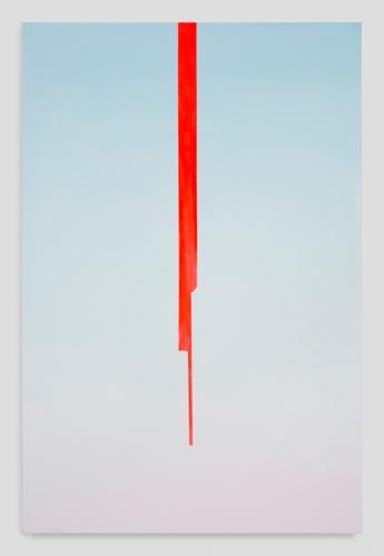 """Wanda Koop, """"In Absentia (Sky Blue - Sightline Red),"""" 2017"""