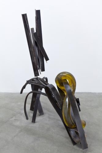 """Large crawler, amber, with cuff,"" 2014"