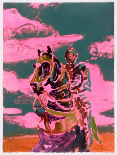 """""""The Soldier (pink and green),"""" 2017"""