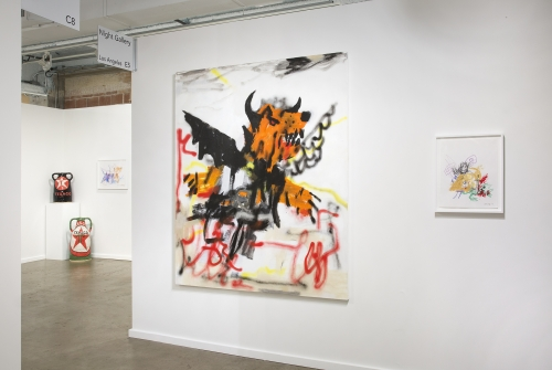 Installation view at Dallas Art Fair, 2019