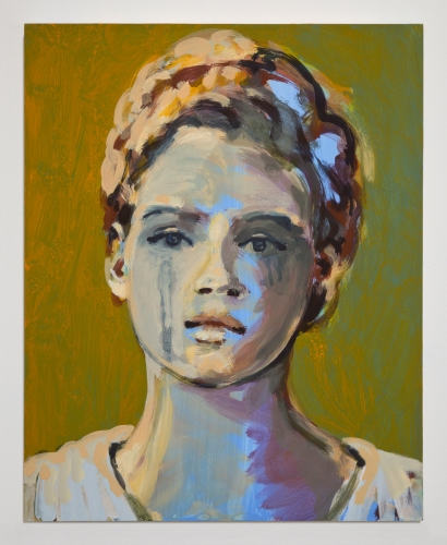 "Claire Tabouret, ""Portrait with Tears,"" 2017"