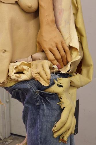 "Lizzie Fitch, ""Untitled,"" detail, installation view in International Women's Day, 2014."
