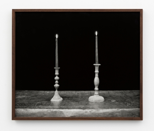 """""""Two Candles, Black,"""" 2018"""