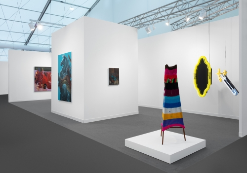 Installation view at Frieze London, 2021.