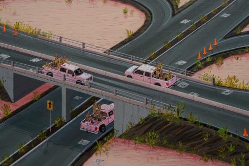 "Ian Davis, ""Inland,"" detail, 2014"