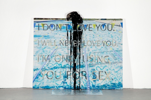 """""""Pool Painting II (I Don't Love You),"""" 2012"""