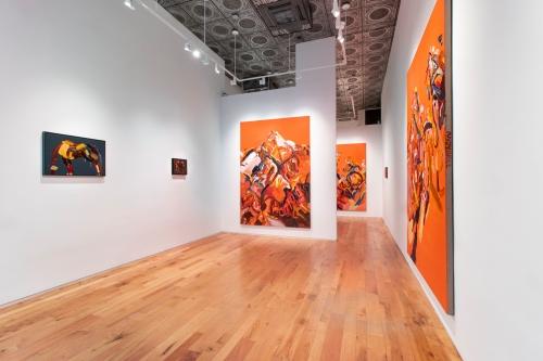 Strange Animal, installation view at Denny Dimin Gallery, New York, 2020.
