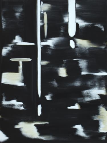"""Reflect (Lamp Black, White, Gold),"" 2018"