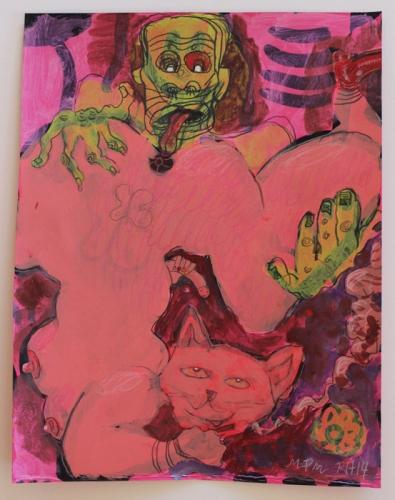 "Richard Hawkins and Marcel Alcala, ""The hungry,"" 2014"