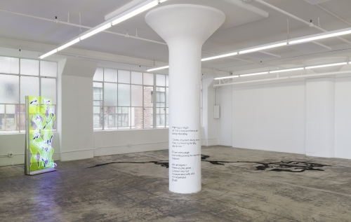 Herfugue, Installation view at JOAN, Los Angeles, 2019.