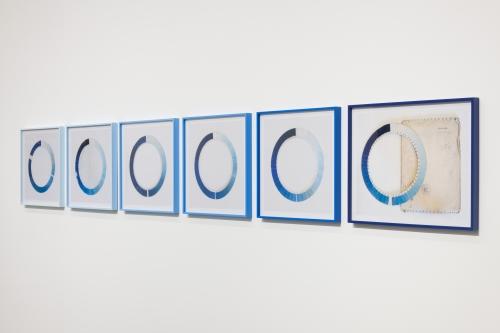 Elise Rasmussen, Cyanometers, installation view, 2018.