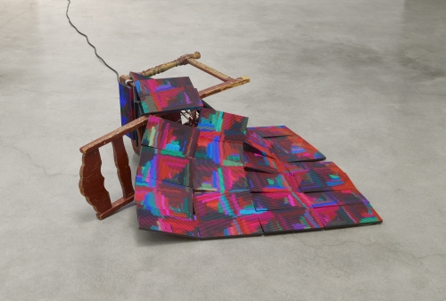 "Luke Murphy, ""Quilt and Discarded Chair,"" 2020"