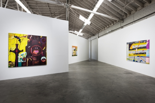 Beyond Oy Too Scared to Ha-Ha, installation view at Night Gallery, 2017.