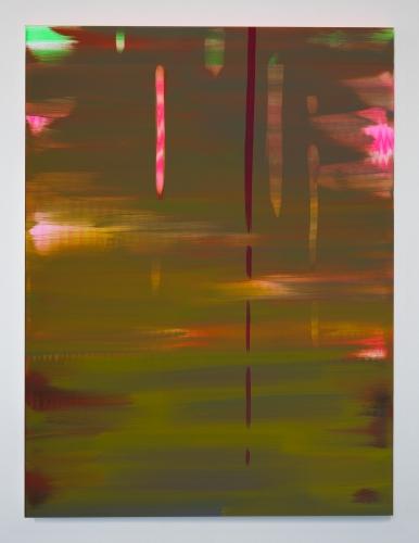 """Wanda Koop, """"Reflect (Moss Green-Lily Pink),"""" 2018"""