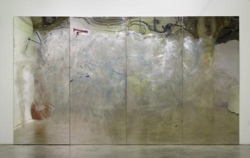 """""""Metal Painting,"""" stainless steel, enamel paint, 2016"""