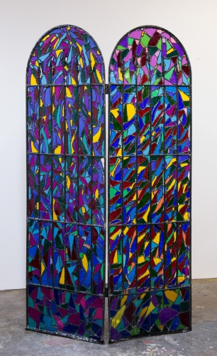 "Samara Golden, ""Missing Pieces (Stained Glass #4)"" from A Trap in Soft Division, 2016"