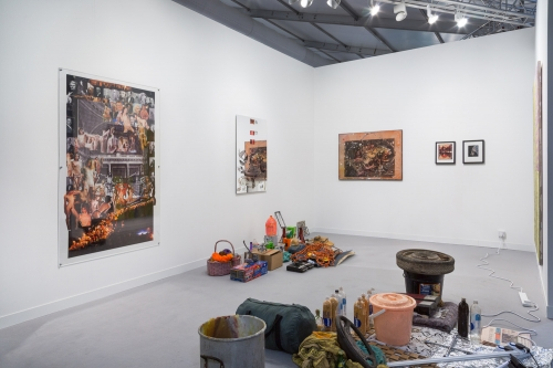 Installation view at Frieze London, 2017, alongside JPW3 and Derek Boshier.