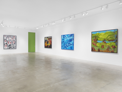 Derek Boshier: Alchemy Alchemy, installation view, Garth Greenan Gallery, New York, NY, 2021.