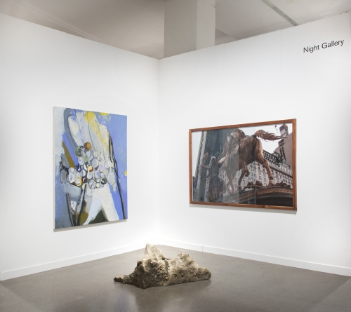 Installation view at Independent New York, 2019, alongside Hang Bing and Rose Marcus.