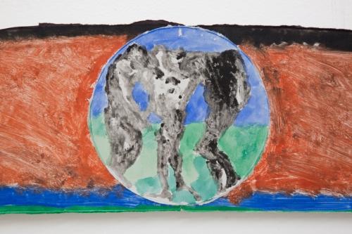 "Augustus Thompson, ""Untitled,"" detail, 2016."