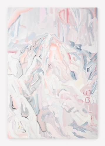 """Andy Woll, """"Mt. Wilson (White Out V),"""" 2016"""