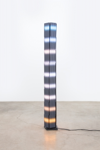 """Luke Murphy, """"Lord Kelvin Column with 5 sides and 9 Lights,"""" 2020"""