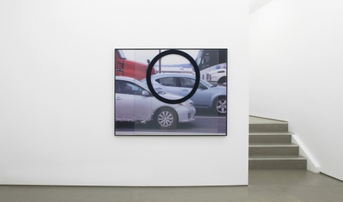 """""""GW (OI),"""" 2017, installation view in Core, Mary Mary Gallery, 2018. Image courtesy of Mary Mary Gallery."""