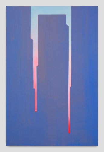 """""""In Absentia (Smalt Blue - Luminous Pink),"""" 2017"""