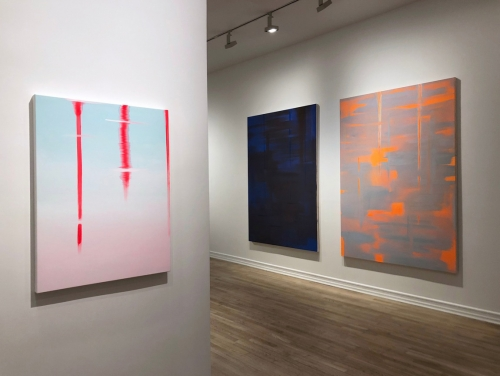 Reflect, installation view at Franklin Parrasch Gallery, 2018