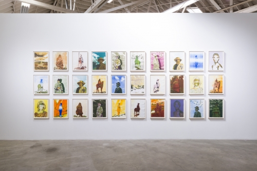 Claire Tabouret, Eclipse, 2017. Installation view.