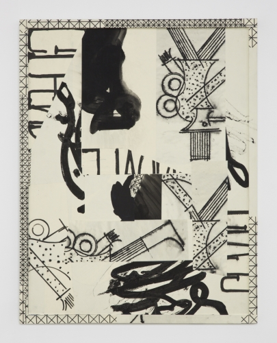 "David Korty, ""Paper Frames #6,"" 2015, ink and silkscreen on panel"