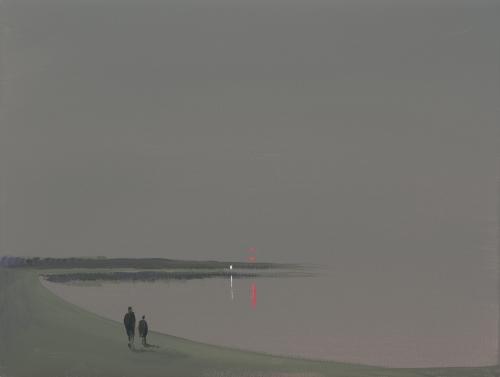 """""""Deep Bay (Gray distant lights - figures),"""" 2007"""