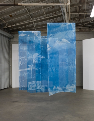 Elise Rasmussen, Blue of Distance, installation view at Night Gallery, 2018.