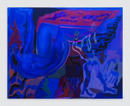 "Mira Dancy, ""Blue Exile,"" 2016"