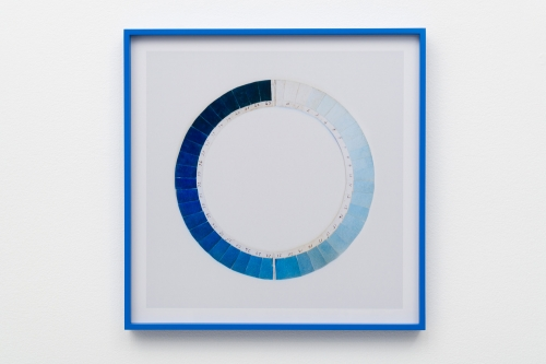 "Elise Rasmussen, ""Cyanometer (honolulu blue),"" 2018."