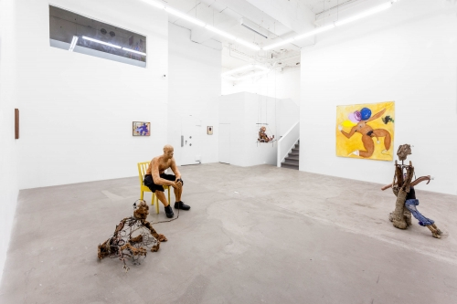 Through the people we are looking at ourselves, two-person with Curtis Santiago, installation view at COOPER COLE, 2017.