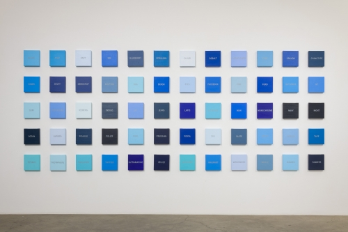 "Cynthia Daignault,""Blues,"" installation view at Night Gallery, 2018."