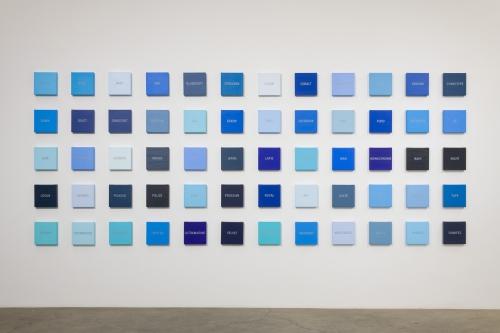 "Cynthia Daignault,""Blues,"" installation view at Night Gallery, 2018."