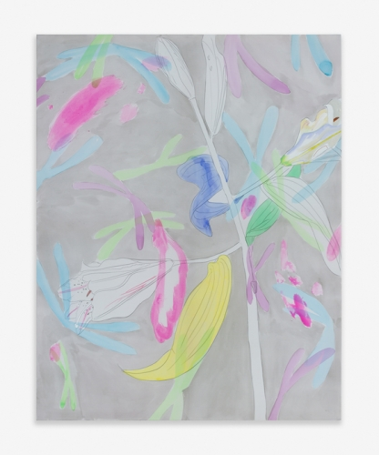 """""""Lilies and Chromosomes (Silver),"""" 2015"""