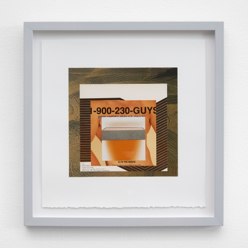 "William E. Jones, ""Homage to the Square 2 (Plowed fields—Frank Stella—phone sex—Donald Judd),"" 2019"