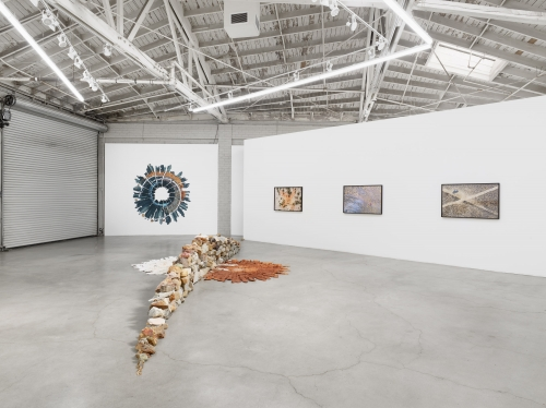 Spiraling Open and Closed Like an Aperture, installation view, 2020.