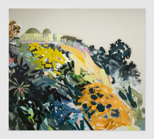 """Mt. Hollywood (Gray, Black, Yellow),"" 2015."