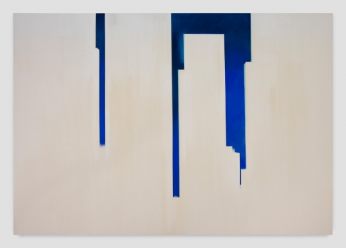 """""""In Absentia (Deep Blue - White),"""" 2017"""