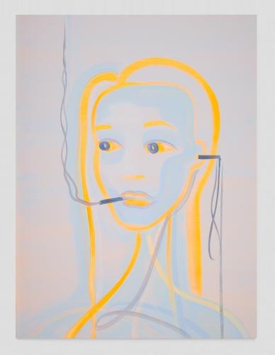 """""""Heartbeat Bot (Orange - Smokey Blue),"""" 2020"""