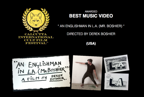 Derek Boshier Wins Best Music Video at Calcutta International Cult Film Festival