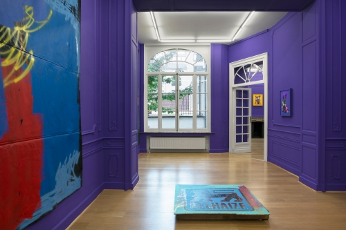 Purple Reign, installation view at Stems Gallery, 2017