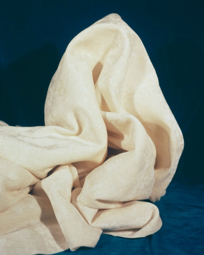 """Sarah Conaway, """"White and Blue Fold,"""" 2014"""